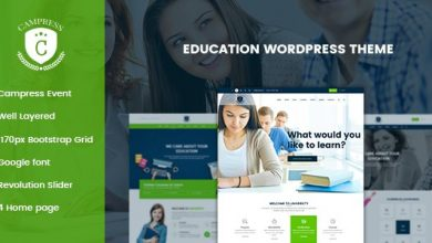 Campress v1.3 – Responsive Education, Courses and Events WordPress Theme