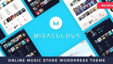 Miraculous v1.0.9 - Online Music Store WordPress Theme