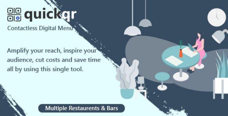 QuickQR v4.0 - Saas - Contactless Restaurant QR Menu Maker
