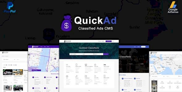 Classified Ads CMS PHP Script v9.4 - Quickad Classified