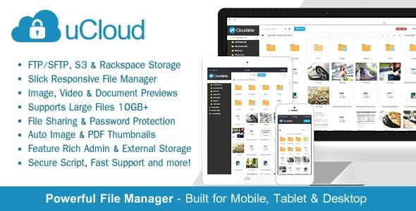 uCloud v2.0.2 - File Hosting Script - Securely Manage, Preview & Share Your Files
