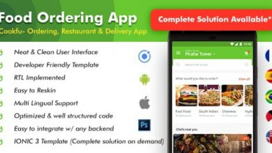 Food Delivery App v2.0 - Food Ordering App - Android + iOS App Template|3 Apps| Multi Restro Cookfu (IONIC 4)