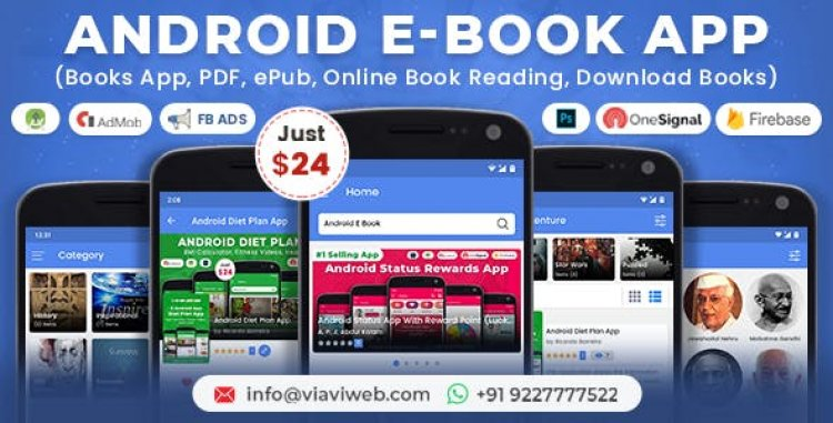Android EBook App v10.0 (Books App, PDF, ePub, Online Book Reading, Download Books)