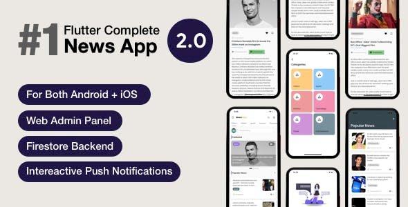 News Hour v3.0.4 - Flutter News App with Admin Panel