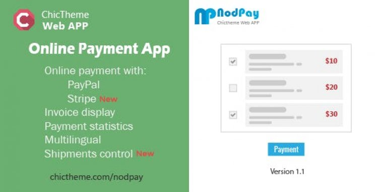 NodPay v1.1 - Online Payment App