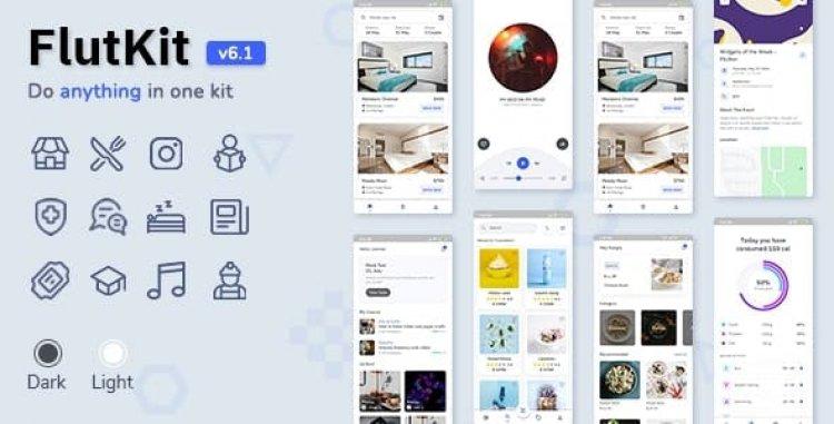 FlutKit v6.1.0 - Flutter UI Kit